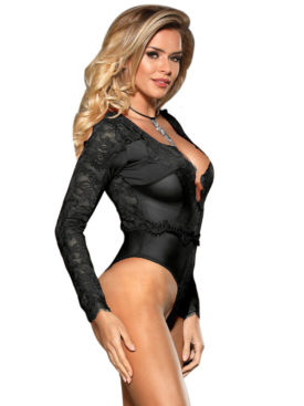 SUBBLIME OPAQUE AND LOW CUT TEDDY LONG SLEEVE  S/M