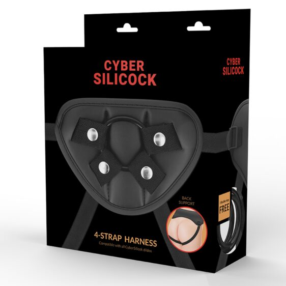 CYBER SILICOCK CYBER SILICOCK STRAP-ON HARNESS WITH 3 RINGS FREE