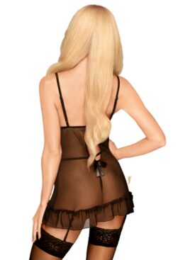 PENTHOUSE GUILTY ICON SUSPENDER DRESS WITH THONG S/M