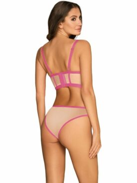 OBSESSIVE - NUDELIA TWO PIECES SET - PINK S/M